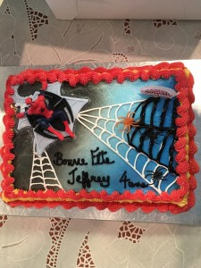 Gâteau de Spiderman